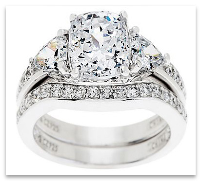 Tacori CZ Bridal Rings Set