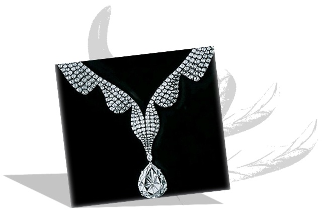 Taylor Burton diamond in Necklace