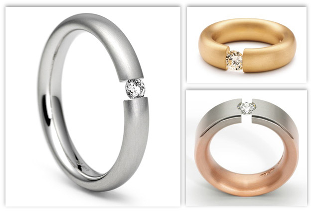 Tension Engagement Rings