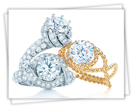 Tiffany engagement rings designed by Jean Schlumberger