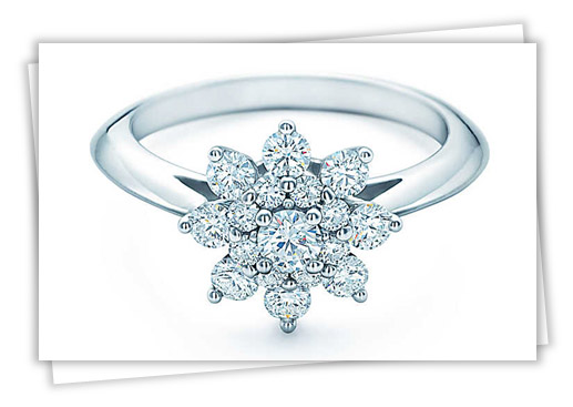 Tiffany Flower Engagement Ring