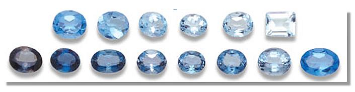 Blue Topaz color shades