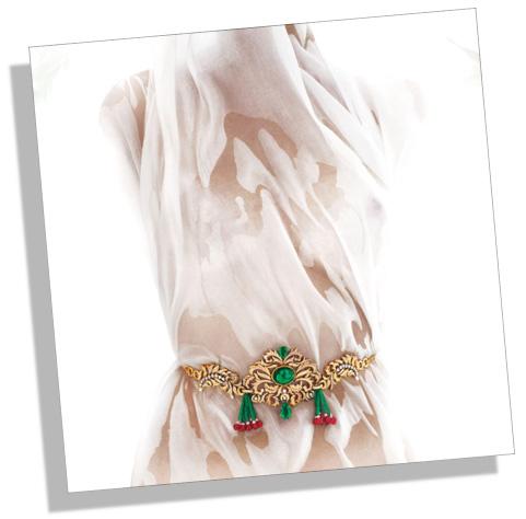 Traditional Indian Gold Waist-belt