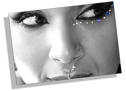 Traditional Indian both-sided Nose Rings