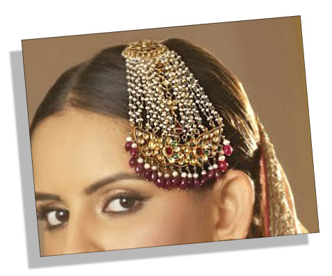 Traditional Indian one-sided Jhoomar