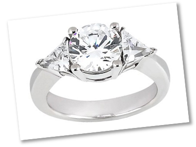 Trilliant Diamond - 3 Stone Setting