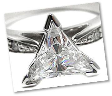 Trilliant Diamond V Prong Setting