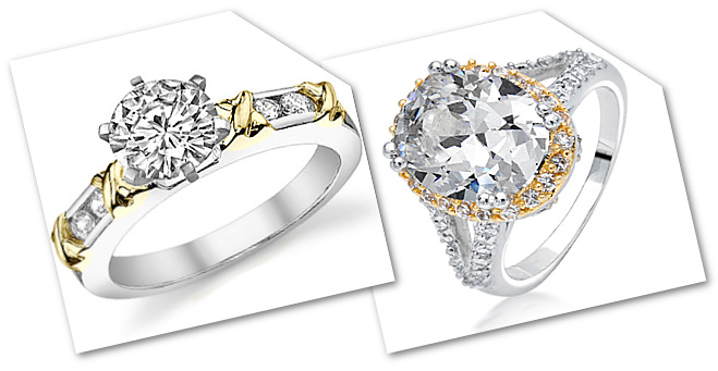 Two Tone Affordable Engagement Rings