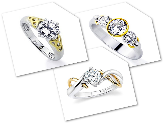 Two Tone Engagement Rings Popular forms
