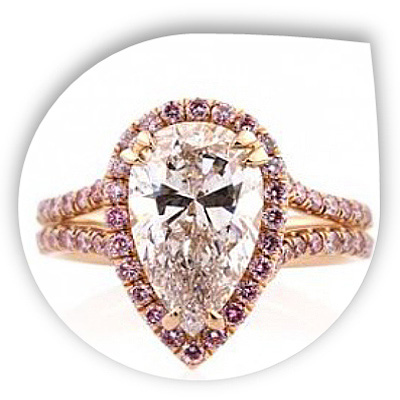 Unique Pear Diamond Engagement Ring