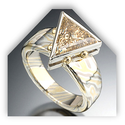 Unique Setting Diamond Engagement Ring