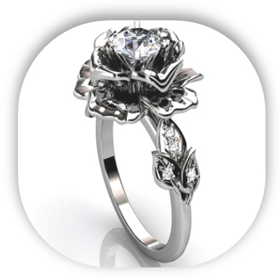 Unique Vintage Diamond Engagement Ring