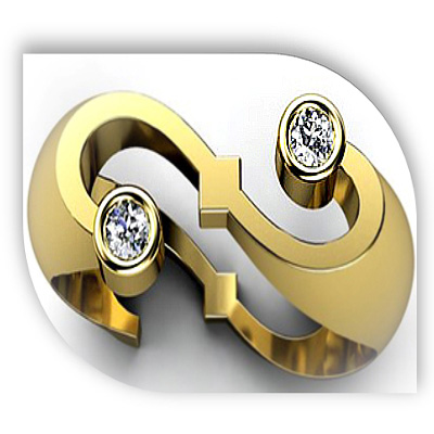 Unique Yellow Gold Diamond Engagement Ring