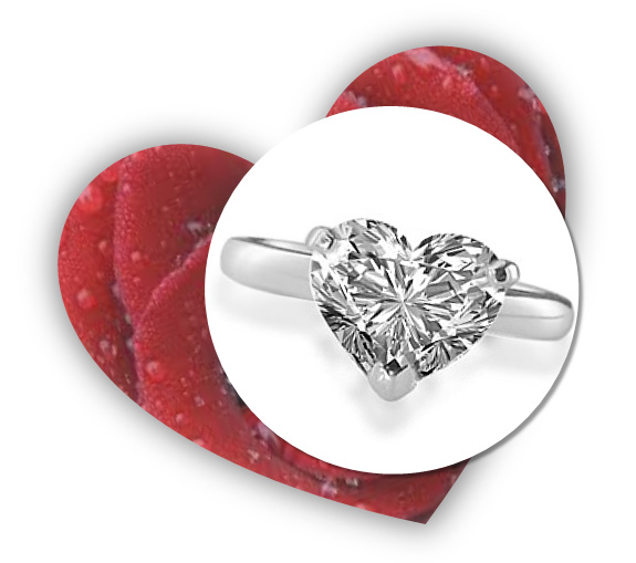 Valentines Day Heart Shaped Engagement Ring