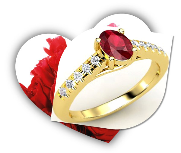 Valentines Day Ruby Engagement Ring