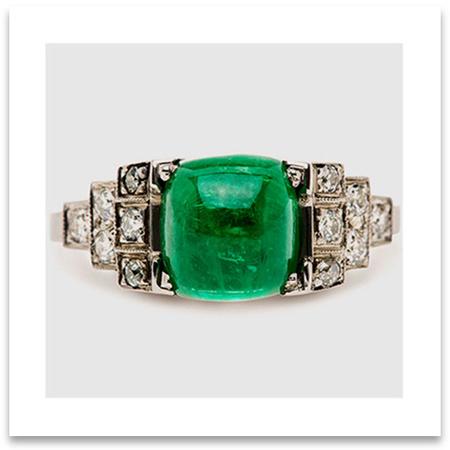 Vintage Art Deco Wedding Ring