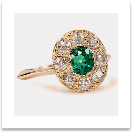 Vintage Emerald Wedding Ring