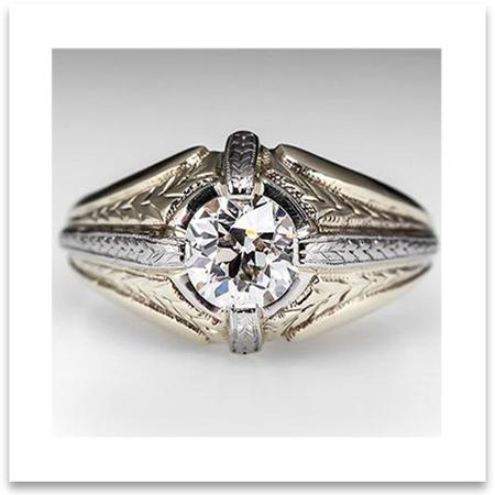 Vintage Men Wedding Ring
