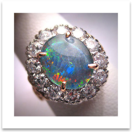 Vintage Opal Wedding Ring