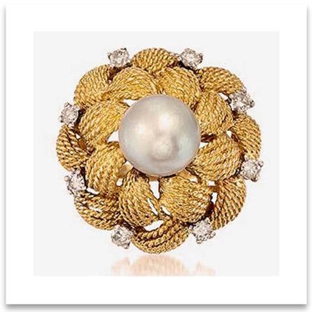 Vintage Pearl Wedding Ring