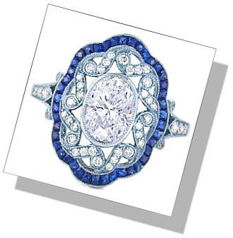 Art Deco Enagagement Ring