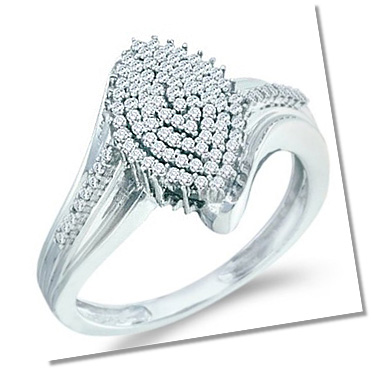 Cluster setting engagement ring