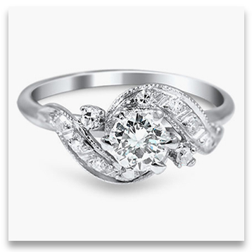 Designer Platinum Engagement Ring from Brilliant Earth