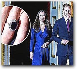 Diamond and Sapphire Engagement Ring of Kate Middleton
