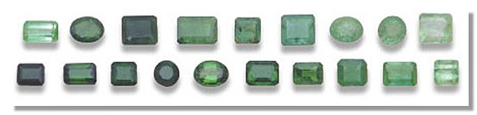 Emerald color shades