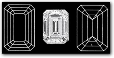 Emerald Diamond Facets Pattern