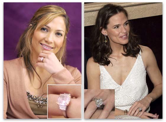 Harry Winston Engagement Rings - Jennifer Lopez and Jennifer Garner
