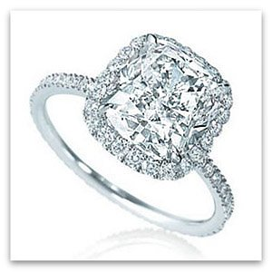 Harry Winston micro-pave engagement ring