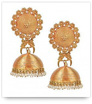 Indian Bridal Jewelry Tips - Rose Gold Earrings