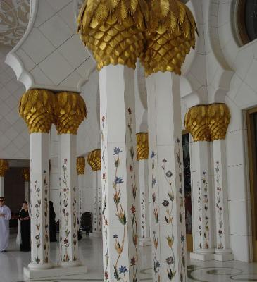 Gold in a Dubai's Mosque