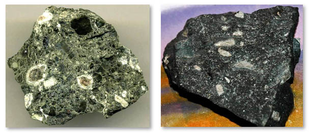 Kimberlite rock samples from different mines of South Africa