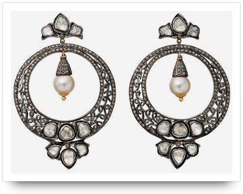 Kundan Jewelry Hoop Earrings Amrapali Jewelers