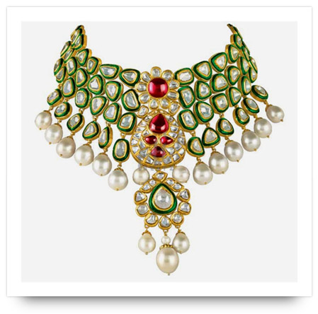 Kundan Necklace Minawala