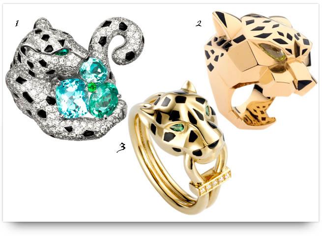 Panthere de Cartier rings