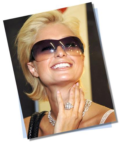 Paris Hilton with Yellow Diamond