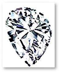 Pear Shaped Diamond Uneven Shoulder