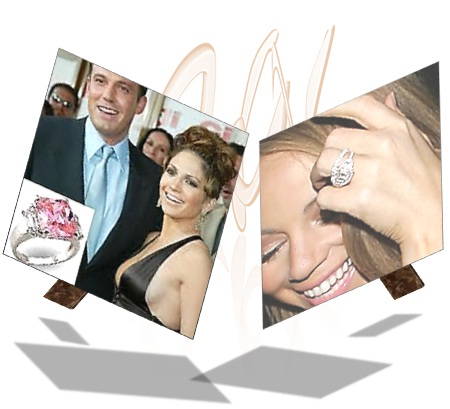 Jennifer Lopez with Pink Diamond Engagement Ring