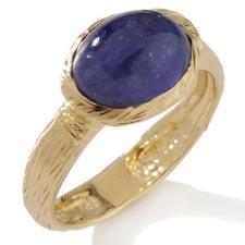 Tanzanite Cabochon Ring