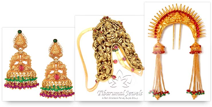 Temple Jewelry - Earrings, Armband and Hair Accessory